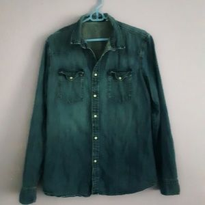 !MOVING SALE! H&M Slim Fit Denim Button Down